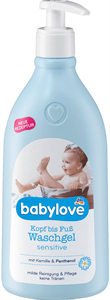 Babylove Waschgel Sensitive Kamillával és Panthenollal