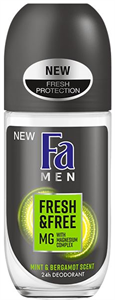 Fa Men Fresh & Free Mint-Bergamot Golyós Deo