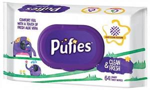 Pufies Clean&Fresh Törlőkendő