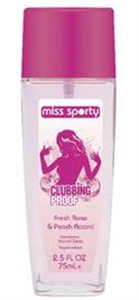 Miss Sporty Clubbing Proof Natural Spray Fresh Rose & Peach Accord