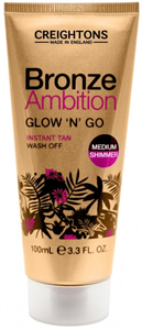Creightons Bronze Ambition Glow'n'go Shimmer Instant Tan Wash Off