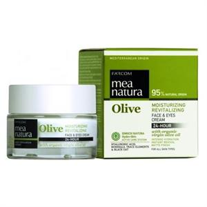 Farcom Mea Natura Olive Hidratáló, Revitalizáló 24 Órás Arc- és Szemkrém