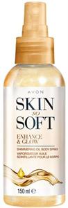 Avon Skin So Soft Csillogó Testápoló Olajspray