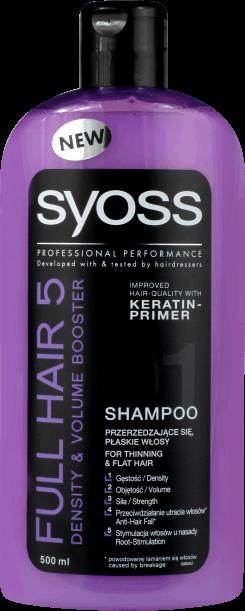 d8ee22b5d8 Syoss Full Hair 5 Hajsűrűség Fokozó és Dúsító Sampon