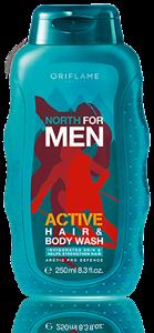 Oriflame North for Men Active Sampon és Tusfürdő 2 az 1-ben