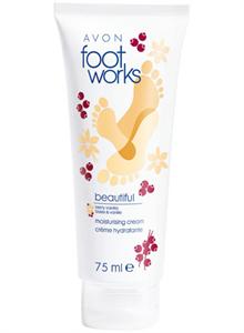 Avon Foot Works Bogyós Gyümölcsök és Vanília Hidratáló Lábkrém