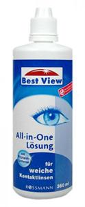 Best View All-In-One Kontaktlencse Tisztító Folyadék