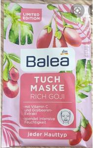 Balea Rich Goji Szövetmaszk C-Vitaminnal és Gojibogyó Kivonattal