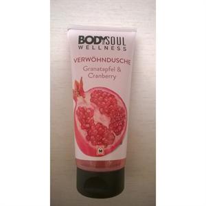 Body&Soul Kényeztető Tusfürdő Gránátalma-Vörösáfonya