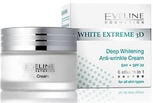 Eveline White Extreme 3D Deep Whitening Anti-wrinkle Cream SPF30