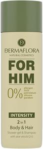 Dermaflora 0% for Him Tusfürdő és Sampon Intensity