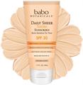 Babo Botanicals Daily Sheer Tinted Facial Mineral Sunscreen SPF30