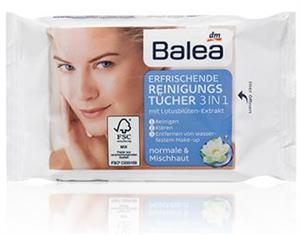 Balea 3in1 Frissítő Arctisztító Kendő Lótuszvirág Kivonattal