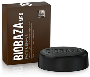 Biobaza Men Face & Shave Fekete Szappan