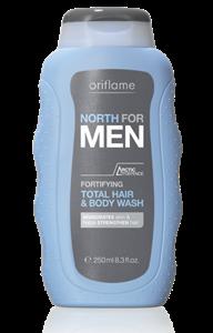 Oriflame North For Men 2 az 1-ben Sampon és Tusfürdő