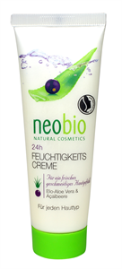 Neobio 24 Órás Hidratáló Krém Bio Aloe Verával és Bio Akai Bogyóval
