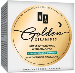 AA Golden Ceramides Intenzív Bőrkisimító Éjszakai Arckrém Kombinált és Normál Bőrre