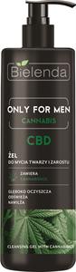 Bielenda Only For Men Cannabis Mélytisztító Arc és Szakálltisztító Gél Cbd-Vel