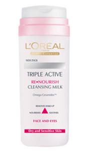 L'Oreal Triple Active Arclemosó Tej Száraz Bőrre