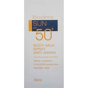 Biovanne Sun Body Milk Spray Anti Aging SPF50+