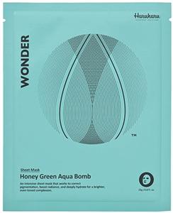 Haruharu Wonder Honey Green Aqua Bomb Mask