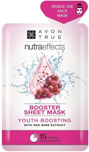 Avon Nutra Effects Booster Sheet Mask Vörösborkivonattal