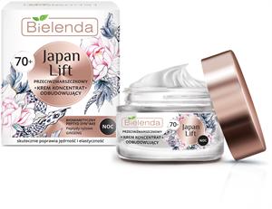 Bielenda Japan Lift - 70+ Ránctalanító és Újjáépítő Hatású Éjszakai Krém-Koncentrátum