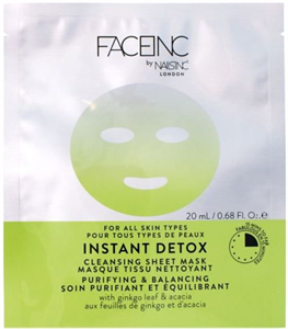Face Inc By Nails Inc Instant Detox Sheet Mask
