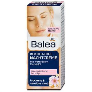Balea Éjszakai Arckrém Mandulaolajjal Száraz és Érzékeny Bőrre