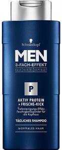 Schwarzkopf Men 3-Fach-Effekt Aktív Fehérje Mélytisztító Sampon