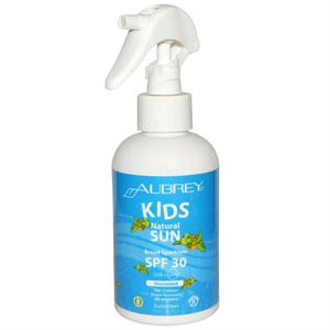 Aubrey Organics Kids Natural Sun Sunscreen Unscented Spray SPF30