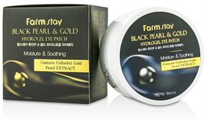 Farm Stay Black Pearl And Gold Hydrogel Eye Patch