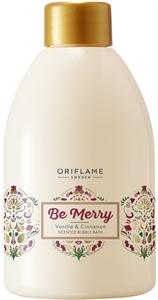 Oriflame Be Merry Habfürdő Vanília és Fahéj Illattal