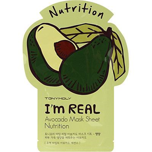 Tonymoly I'm Real Avocado Mask Sheet Nutrition