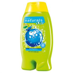 Avon Naturals Kids Könnymentes Bogyós Gyümölcsös Tusolózselé és Habfürdő