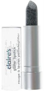 Claire's Black Glitter Lipstick