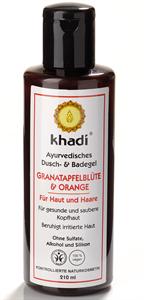 Khadi Ayurvédikus Fürdő- és Tusológél Gránátalmavirág & Narancs
