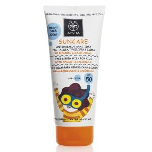 Apivita Suncare Face and Body Milk for Kids SPF50