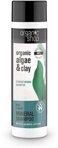 Organic Shop Kék Lagúna Erősítő Sampon Bio Alga és Agyag Kivonattal