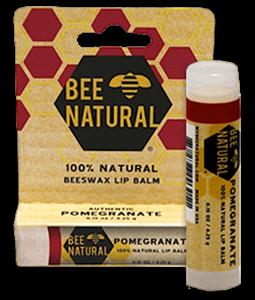 Bee Natural Pomegranate Lip Balm