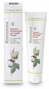 L' Erbolario Shampoo Ristrutturante Per Capelli Trattati Con Oligosaccaridi Di Cotone Ed Estratto Di Germogli Di Tiglio