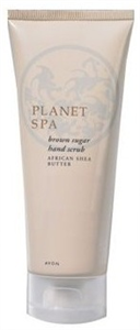 Planet Spa Brown Sugar Hand Scrub African Shea Butter - Kézradír