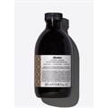 Davines Alchemic Chocolate Shampoo, Színfrissítő Sampon - Csokoládé, Meleg Barna Árnyalat