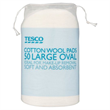 Tesco Large Oval Cotton Wool Pads
