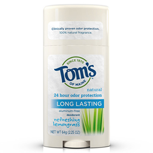 Tom's Of Maine Natural Long-Lasting Deodorant - Refreshing Lemongrass