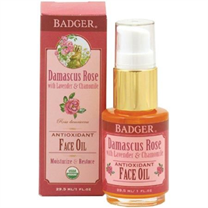 Badger Balm Antioxidant Face Oil, Damascus Rose with Lavender & Chamomile