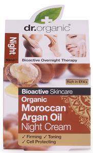Dr. Organic. Éjszakai Arcápoló Krém Marokkói Bio Argán Olajjal