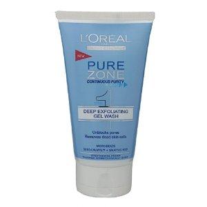 L'Oreal Pure Zone Pórustisztító Bőrradír-Zselé