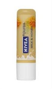 Nivea Pure & Natural Ajakápoló Milk & Honey