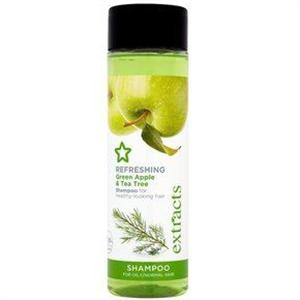 Superdrug Extracts Refreshing Green Apple & Tea Tree Sampon